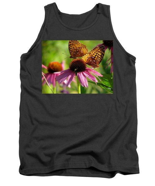 Coneflower Butterflies Tank Top