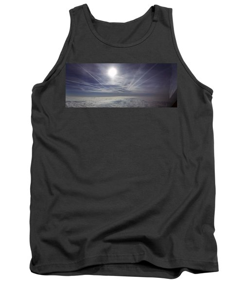 Contrail Panorama Tank Top by Greg Reed