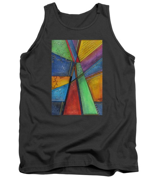 Tank Top featuring the painting Convergence by Nicole Nadeau