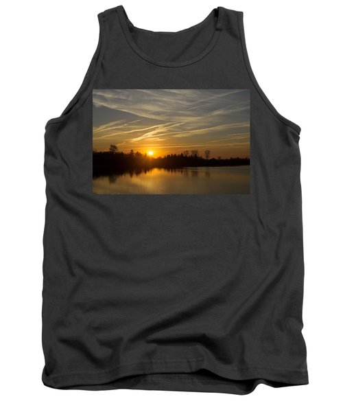 Cool Contrails And Sunshine Tank Top