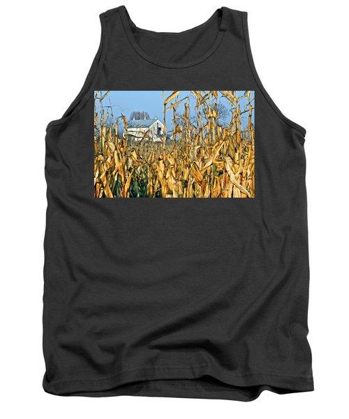 Corn Framed Barn Tank Top