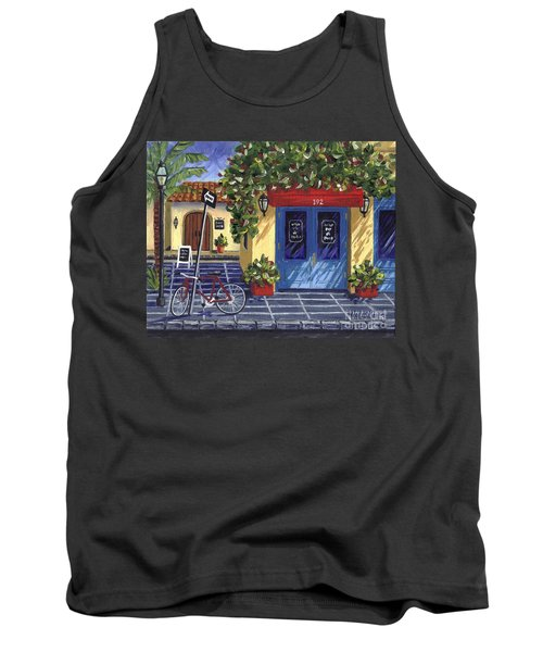 Tank Top featuring the painting Corner Store by Val Miller