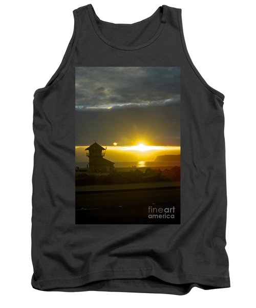 Coronado's Beach At Sunset Tank Top by Claudia Ellis