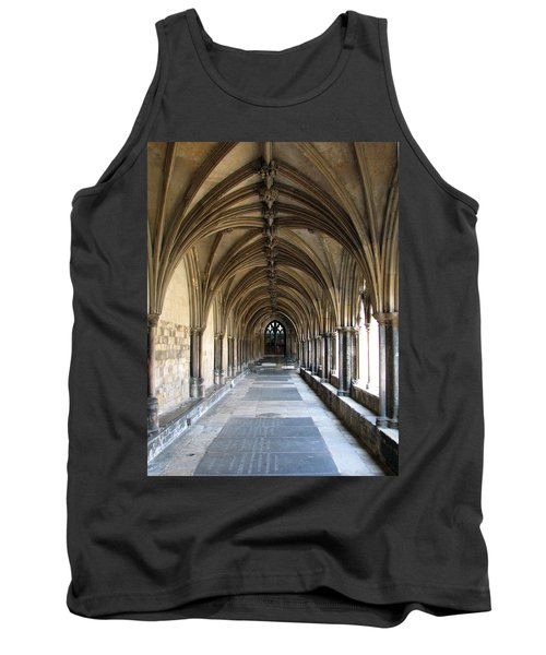 Tank Top featuring the photograph Corridor Of Arches by Stephanie Grant