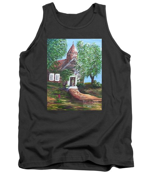 Tank Top featuring the painting Country Church by Eloise Schneider