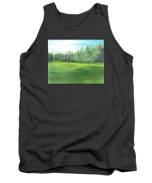 Tank Top featuring the drawing Country Club by Troy Levesque