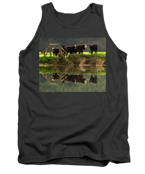 Cow Reflections Tank Top