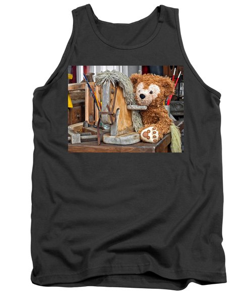 Tank Top featuring the photograph Cowboy Bear by Thomas Woolworth