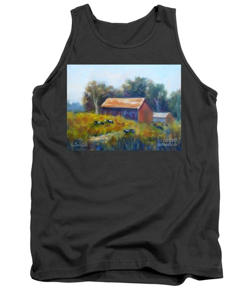 Cows By The Barn Tank Top
