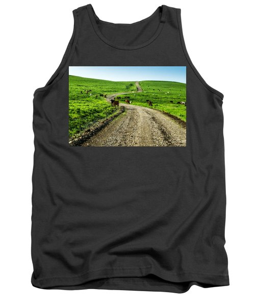 Cows On The Road Tank Top