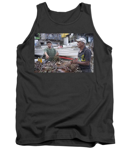 Crabbers At Popotla Tank Top by Hugh Smith