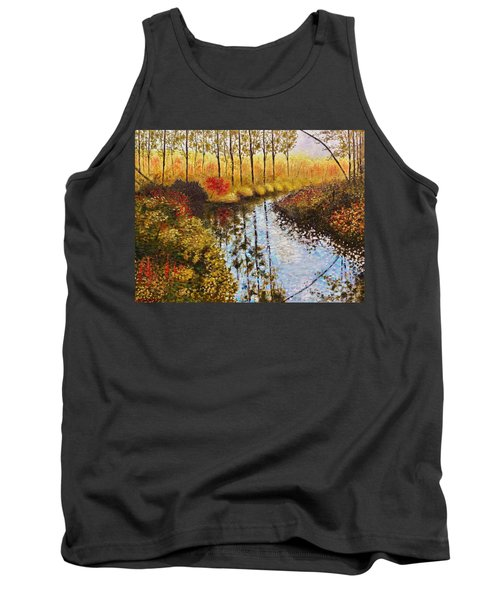 Tank Top featuring the painting Cranberry Bog by Jason Williamson