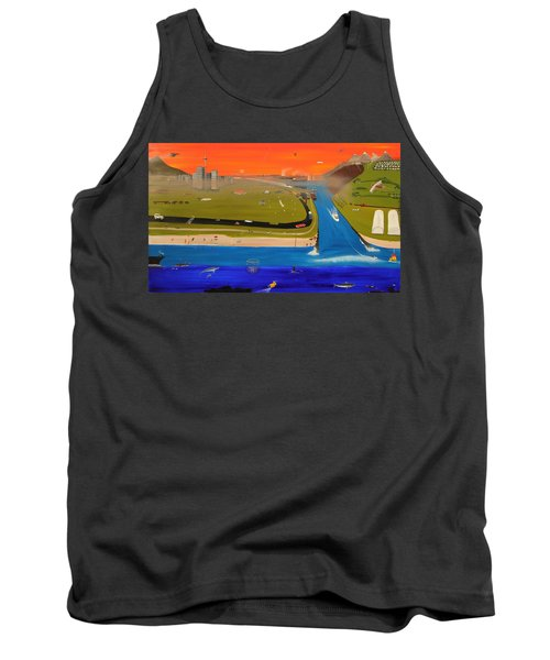 Tank Top featuring the painting Creation And Evolution - Painting 2 Of 2 by Tim Mullaney