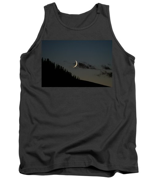 Tank Top featuring the photograph Crescent Silhouette by Jeremy Rhoades