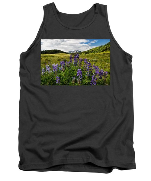 Tank Top featuring the photograph Crested Butte Lupines by Ronda Kimbrow