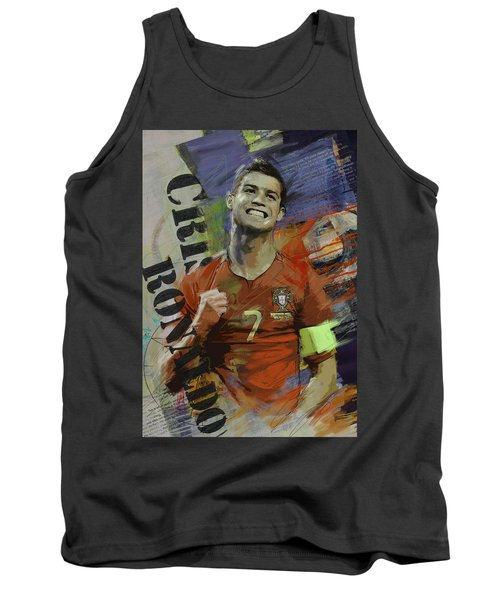 Cristiano Ronaldo - B Tank Top by Corporate Art Task Force