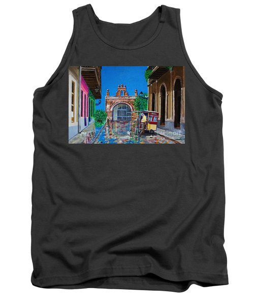 Capilla De Cristo - Old San Juan Tank Top by The Art of Alice Terrill