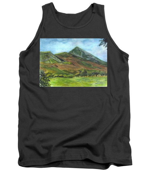 Croagh Saint Patricks Mountain In Ireland  Tank Top by Carol Wisniewski