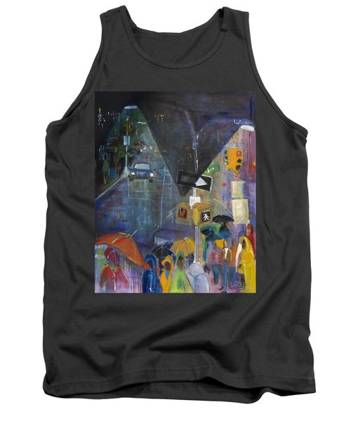 Crowded Intersection Tank Top by Leela Payne
