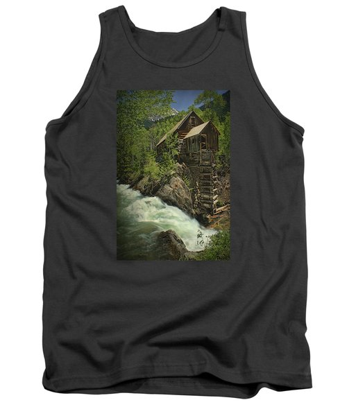 Tank Top featuring the photograph Crystal Mill by Priscilla Burgers