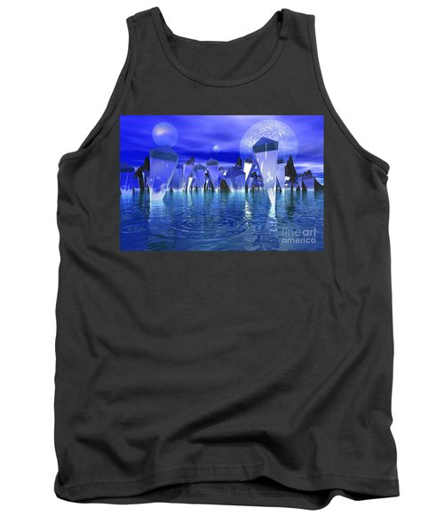 Tank Top featuring the photograph Crystal River by Mark Blauhoefer