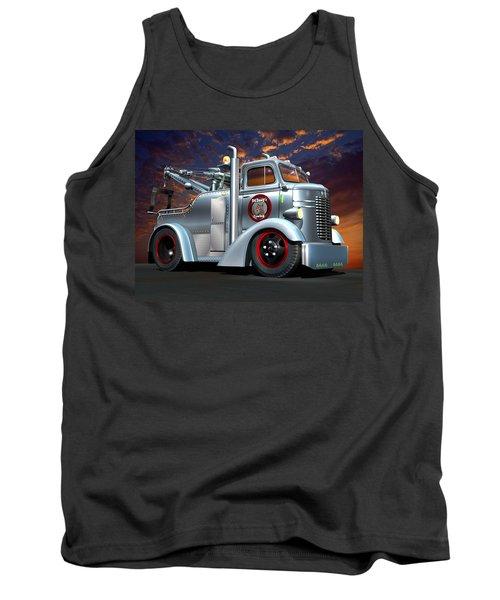 Custom Coe Tow Truck Tank Top by Stuart Swartz