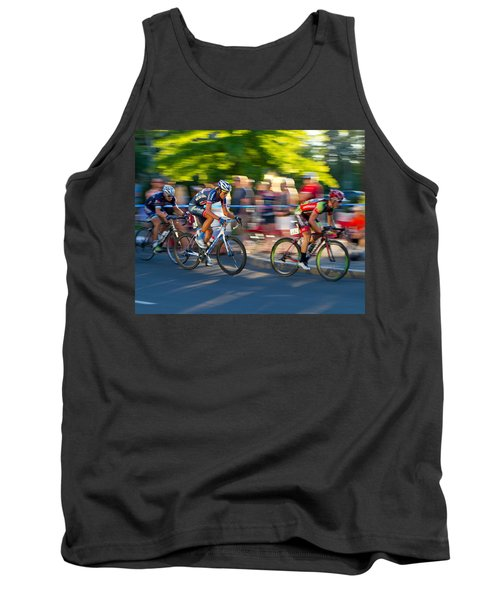 Tank Top featuring the photograph Cycling Pursuit by Kevin Desrosiers