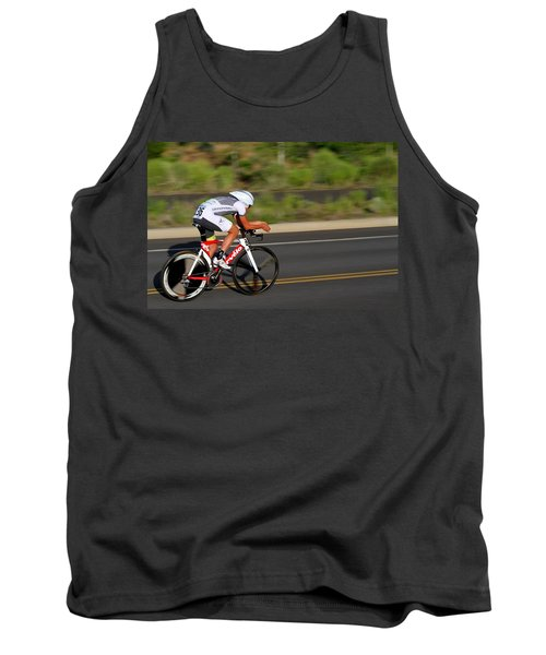 Tank Top featuring the photograph Cycling Time Trial by Kevin Desrosiers