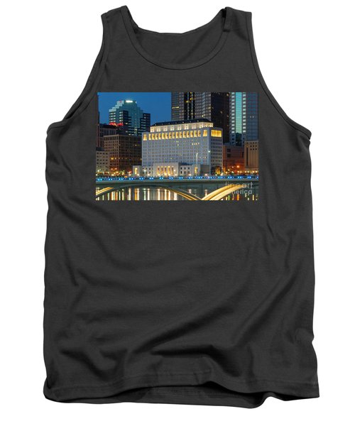 D2l496 Columbus Ohio Night Skyline  Tank Top