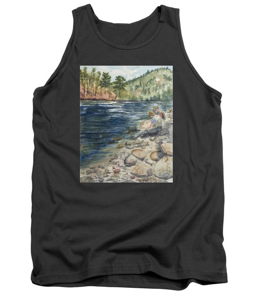 Dad And Son Gearing Up Tank Top