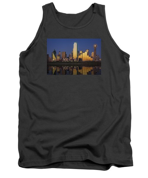 Dallas At Dusk Tank Top by Rick Berk