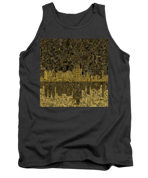 Dallas Skyline Abstract 3 Tank Top