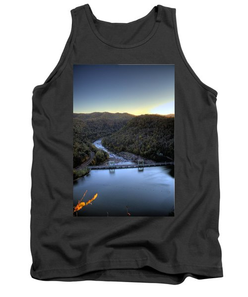 Tank Top featuring the photograph Dam Across The River by Jonny D