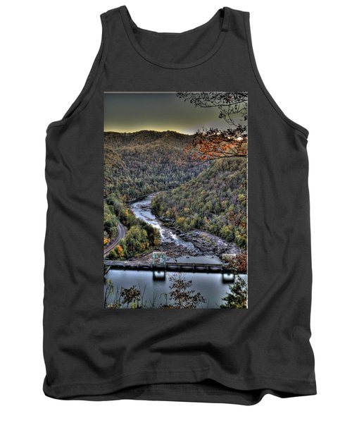 Tank Top featuring the photograph Dam In The Forest by Jonny D