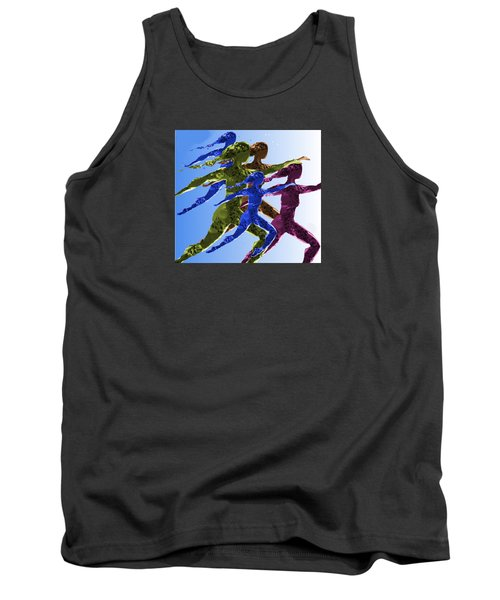Tank Top featuring the digital art Dancers by Mary Armstrong