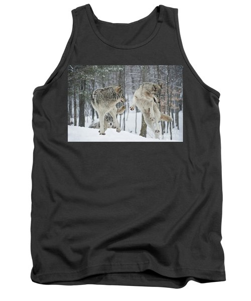 Tank Top featuring the photograph Dances With Wolves by Wolves Only