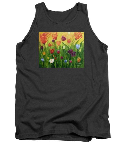 Dancing Tulips Tank Top