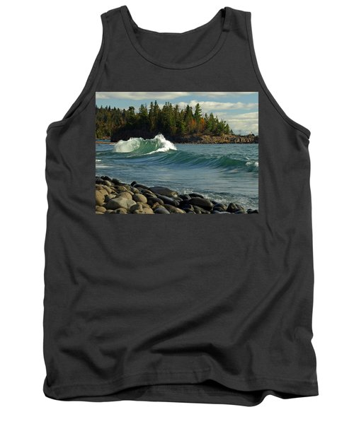 Tank Top featuring the photograph Dancing Waves by James Peterson