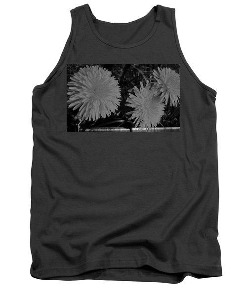 Tank Top featuring the photograph Dandelion Weeds? B/w by Martin Howard