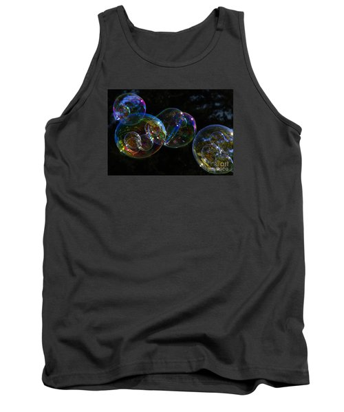 Dark Bubbles With Babies Tank Top by Nareeta Martin