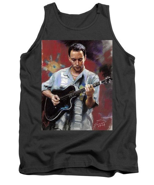 Tank Top featuring the drawing Dave Matthews by Viola El