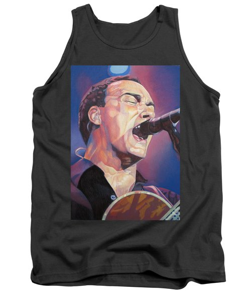 Dave Matthews Colorful Full Band Series Tank Top by Joshua Morton