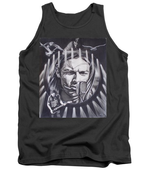 David Gilmour Of Pink Floyd - Echoes Tank Top
