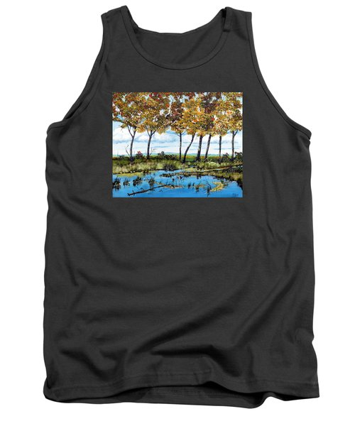Dawn's Blue Waters Edge  Tank Top