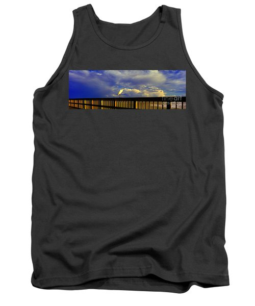 Daytona Beach Rail Bird Sun Glow Pier  Tank Top