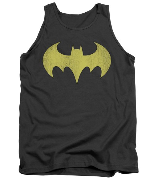 Dc - Batgirl Logo Distressed Tank Top