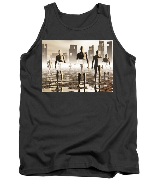 Tank Top featuring the digital art Deconstruction by John Alexander
