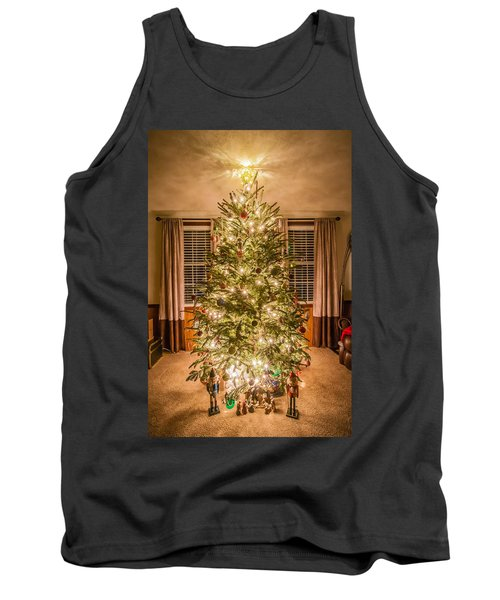 Tank Top featuring the photograph Decorated Christmas Tree by Alex Grichenko