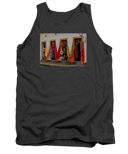 Tank Top featuring the photograph Decorated Doorways by Nareeta Martin
