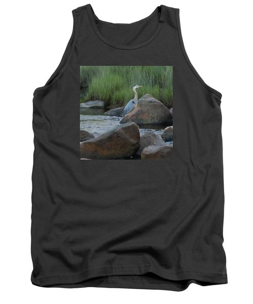 Tank Top featuring the photograph Definitely Blue Heron by Francine Frank